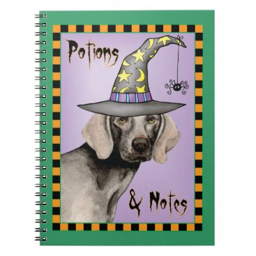 Halloween Themed Weimaraner Witch Notebook