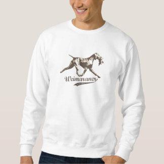 Weimaraner with Bird Sweatshirt