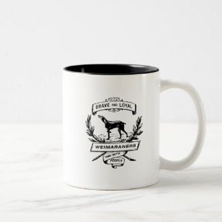 Weimaraners Think They're People Two-Tone Coffee Mug