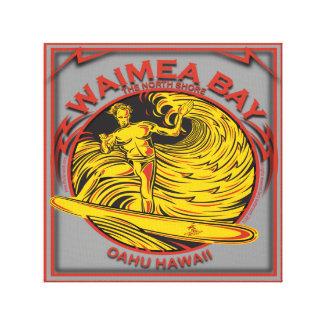 WEIMEA BAY OAHU HAWAII SURFING CANVAS PRINT