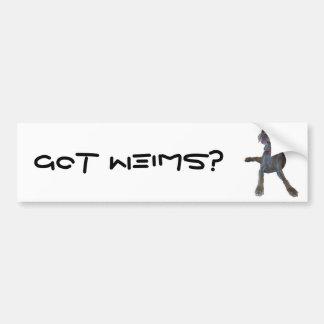¿Weims conseguido? pegatina para el parachoques de Pegatina De Parachoque