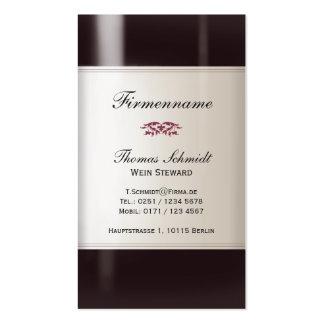 Wein Steward Visitenkarte Business Card