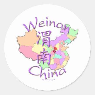 Weinan China Sticker