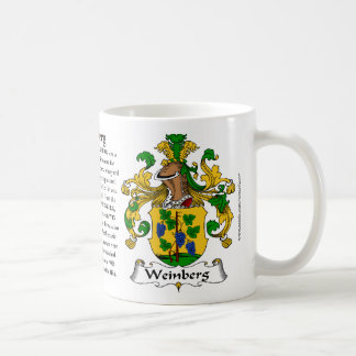 Weinberg the Origin the Meaning and the Crest Coffee Mugs