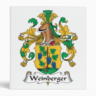 Weinberger Family Crest 3 Ring Binder