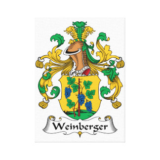 Weinberger Family Crest Canvas Print