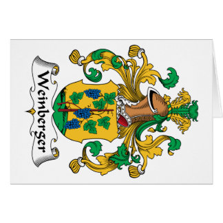 Weinberger Family Crest Greeting Cards