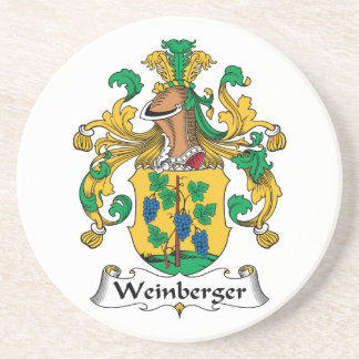 Weinberger Family Crest Drink Coasters