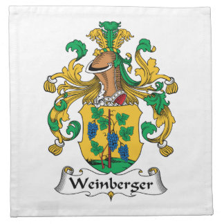 Weinberger Family Crest Printed Napkins