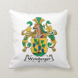 Weinberger Family Crest Throw Pillows