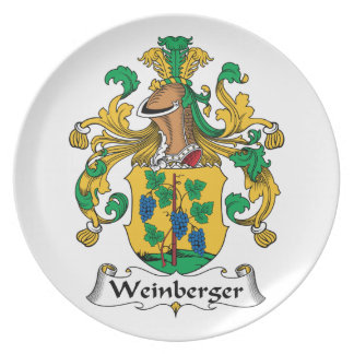 Weinberger Family Crest Plate