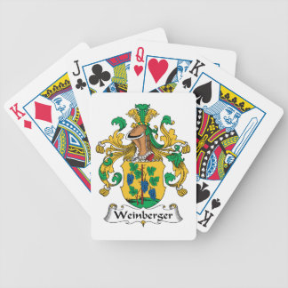 Weinberger Family Crest Playing Cards
