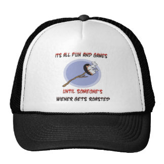 Weiner consigue asado gorras