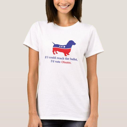 Weiner Dog, Dachshund for Obama T-Shirt