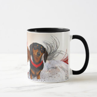 Weiner Dog Holiday Mug