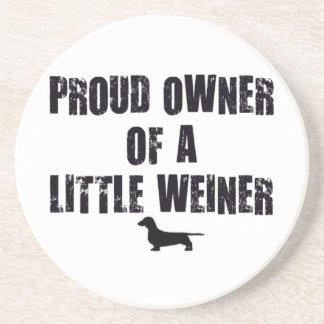 Weiner Dog Proud Owner Sandstone Coaster