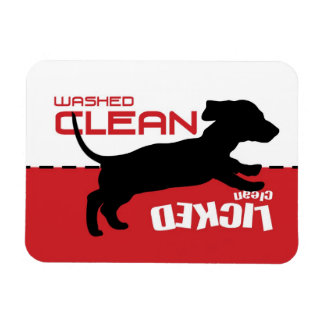 Weiner Dog Puppy Dishwasher Magnet - Licked Clean