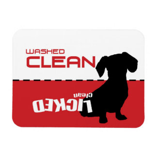 Weiner Dog, Puppy Dishwasher Magnet - Licked Clean