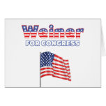 Weiner for Congress Patriotic American Flag Card