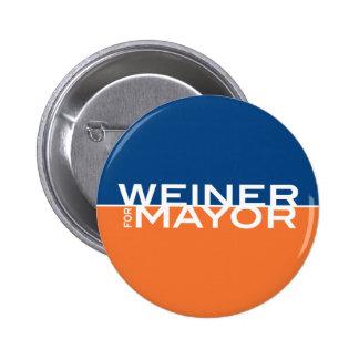 Weiner for Mayor 2 Inch Round Button