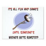 "Weiner Gets Roasted 4.25"" X 5.5"" Invitation Card"