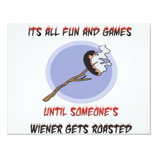 Weiner Gets Roasted 4.25x5.5 Paper Invitation Card