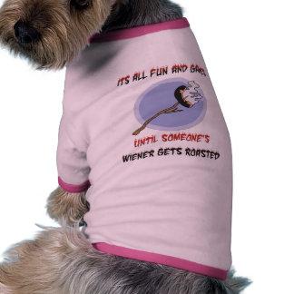 Weiner Gets Roasted Doggie Tshirt