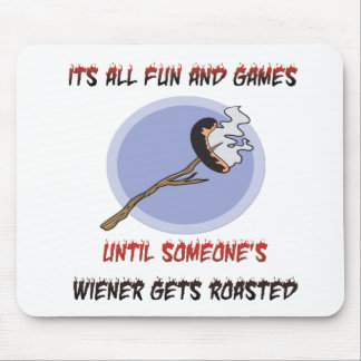 Weiner Gets Roasted Mouse Pad