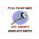 Weiner Gets Roasted Postcard