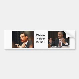 Weiner / Holder 2012 Bumper Sticker