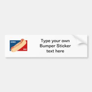 WEINER IN 2012 CAR BUMPER STICKER