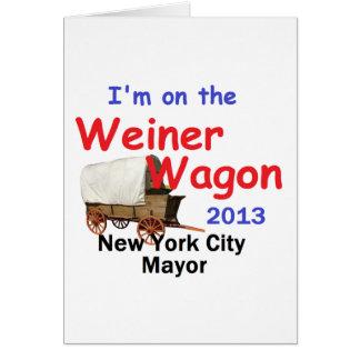 Weiner NYC Mayor 2013 Greeting Card