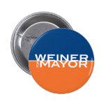 Weiner para el alcalde pins