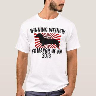Weiner que gana para alcalde Of NYC 2013 Playera