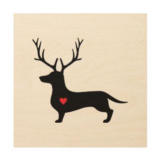 Weiner Reindeer! Wood Wall Decor