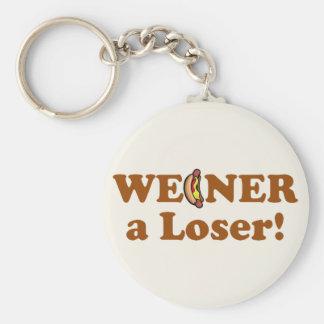 ¡Weiner un perdedor! Llavero Redondo Tipo Pin