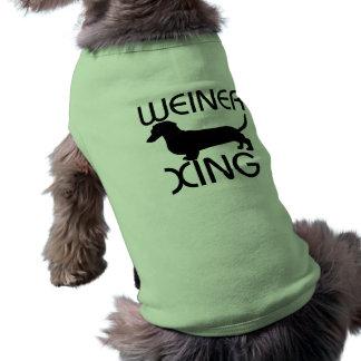 Weiner xing Dog Shirt