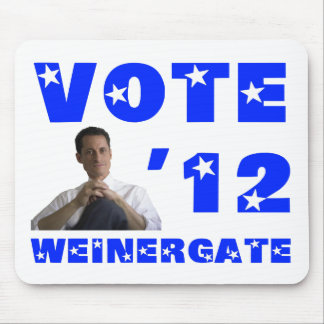Weinergate - Blue Mouse Pad