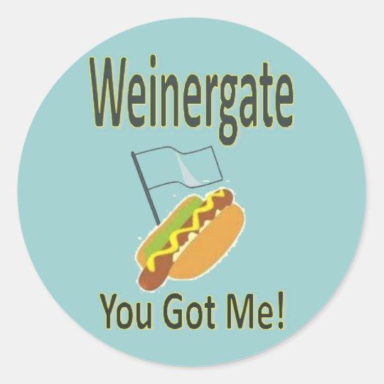 Weinergate Scandal - Anthony Weiner 2011 Classic Round Sticker