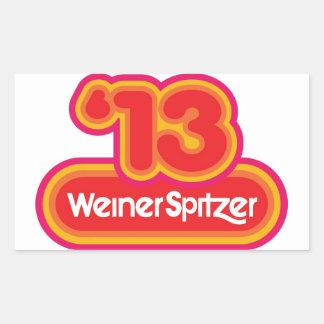 WeinerSpitzer '13 Pegatina Rectangular