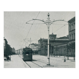 Weinerstrasse Berlin Electric Tram and Archway Poster
