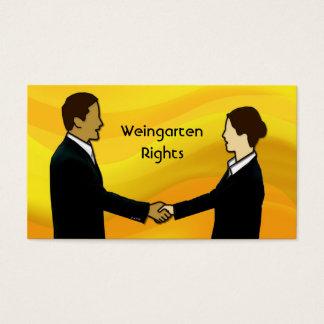 Weingarten Rights Business Card