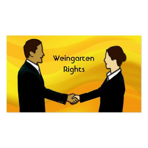 Weingarten Rights Business Card Template