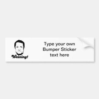 Weining Car Bumper Sticker