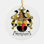 Weinmann Family Crest Christmas Tree Ornaments