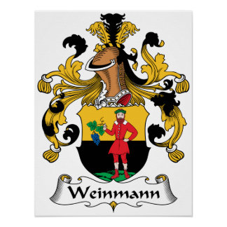 Weinmann Family Crest Print