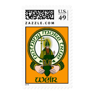 Weir Clan Motto Postage Stamps