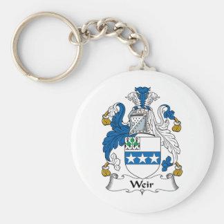 Weir Family Crest Basic Round Button Keychain