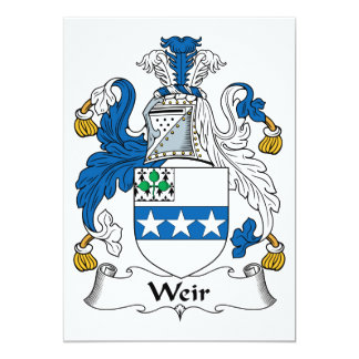 Weir Family Crest Cards