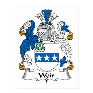 Weir Family Crest Post Card